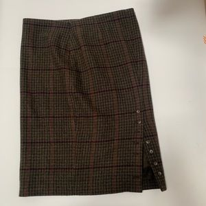 Ralph Lauren Purple Label Plaid Skirt size 4